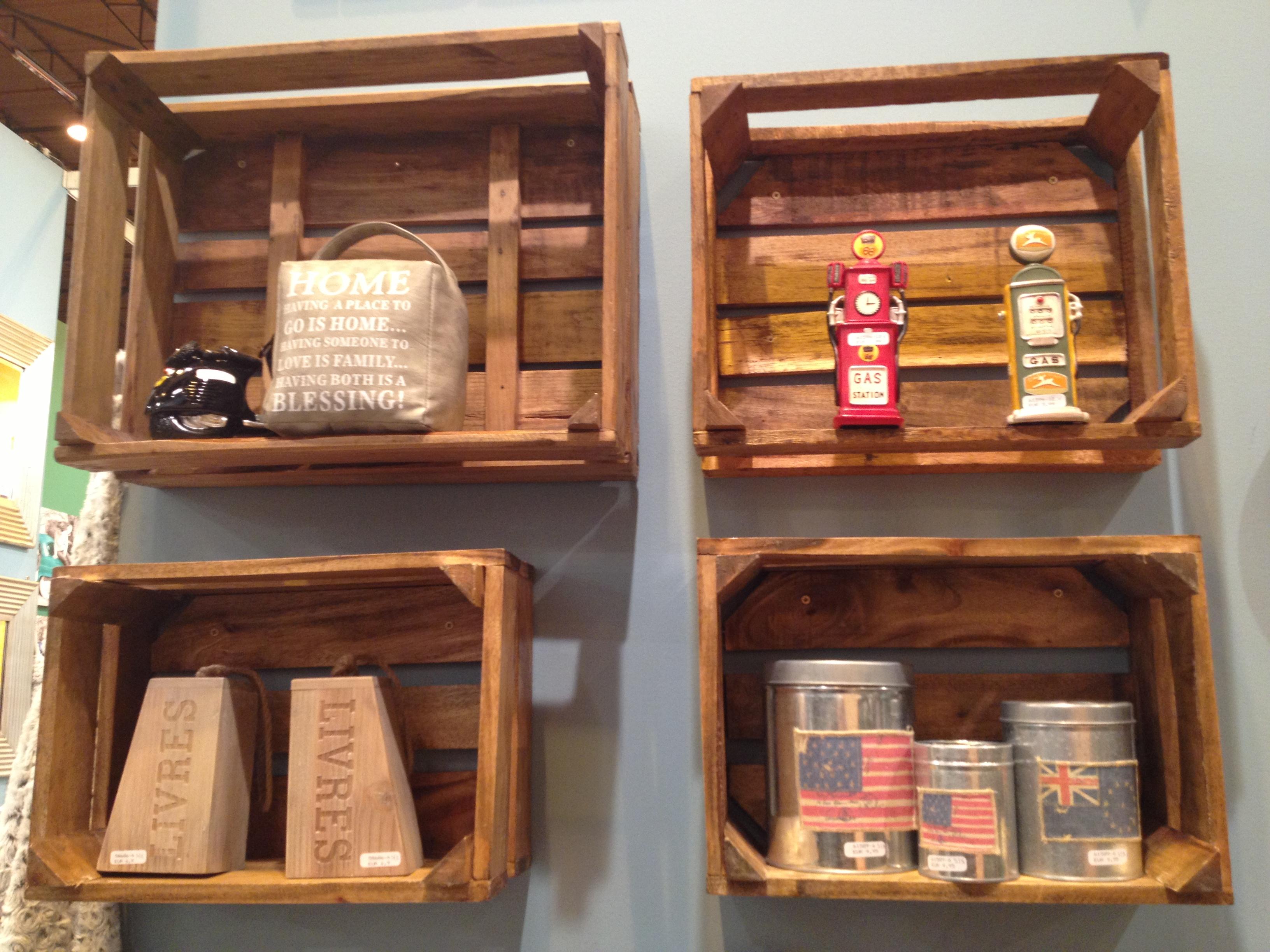 Planes diferentes feria del mueble unaxuna - Decorar cajas de madera con papel ...